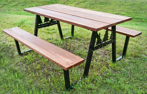 Lake Country Hearth & Patio - Outdoor Patio Products - Picnic Table Brackets